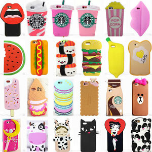 buy online 19580 24216 Details about 3D Fashion Cool Cute Cartoon Silicone Case Cover For iPhone 5  6 7 8 X XR XS Max