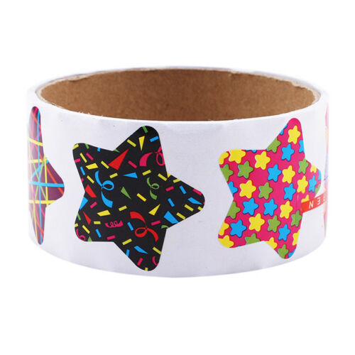 Paper Stickers Rolls Kids Animals Smiley Face Love Star Birthday Decor SA