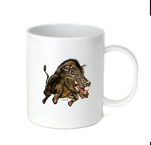 Coffee Cup Mug Travel 11 15 Oz School Team Mascot Wild Boars Boar Hog