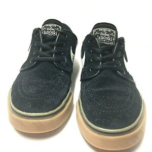Ingenieria Ru Deliberadamente  Nike Stefan Janoski Boys Skateboard Black Suede Gum Sole Shoes Size 3.5 Y  Us   eBay