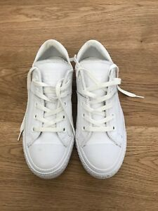 e8e2084aba4c77 Brand New Converse Chuck Taylor All Star Mono Leather White Low-Top ...
