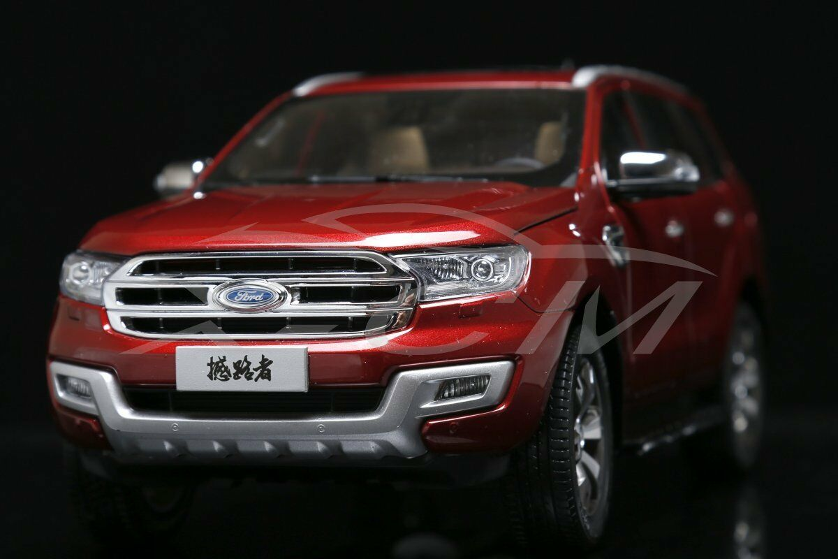 Diecast Car Model Ford Everest Titanium SUV U375 1 18 (Red) + GIFT