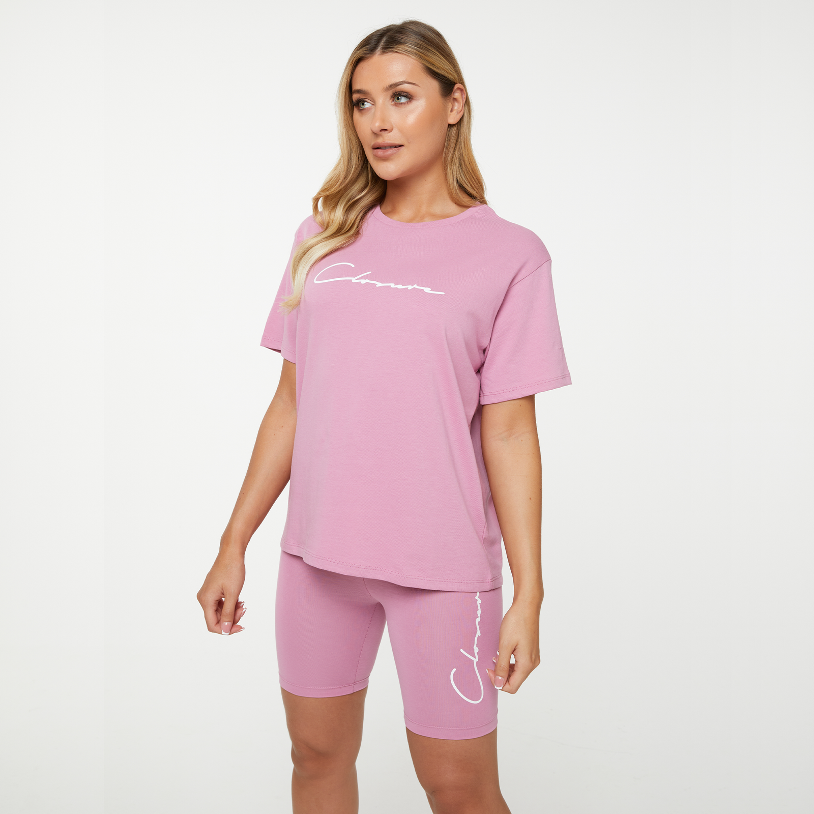 Womens Closure London Tee and Short Training Set in Berry