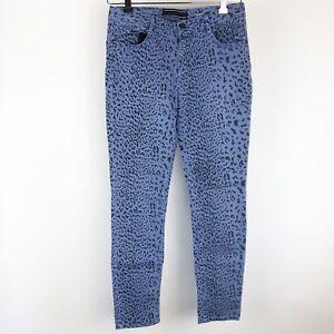 Vanilla-Star-Jeans-Skinny-Purple-Size-15-Juniors-Leopard-Cheetah-Animal-print