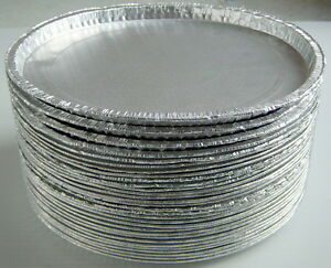 ONE-LOT-OF-30-ALUMINUM-PAN-PLATES-LOW-BORDER
