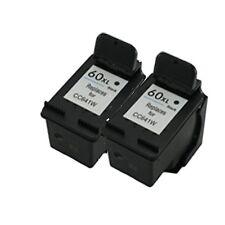 2 Remanufactured Ink Cartridges For HP60XL CC641WN Black for Deskjet F4480 F4450