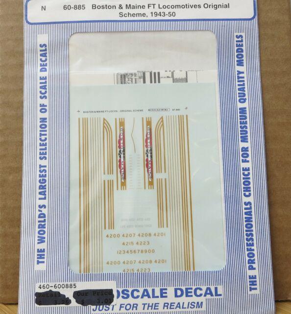 Black Scheme 1940-1960 Microscale Decal N Scale 60-984 Boston /& Maine Switchers