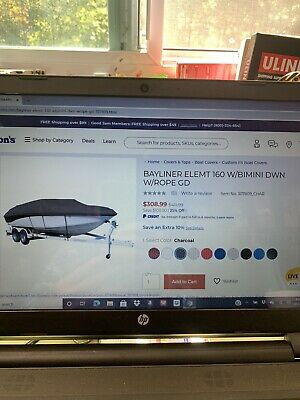 BOAT COVER FITS FOR BAYLINER CAPRI 1870 CH BOWRIDER 90-91