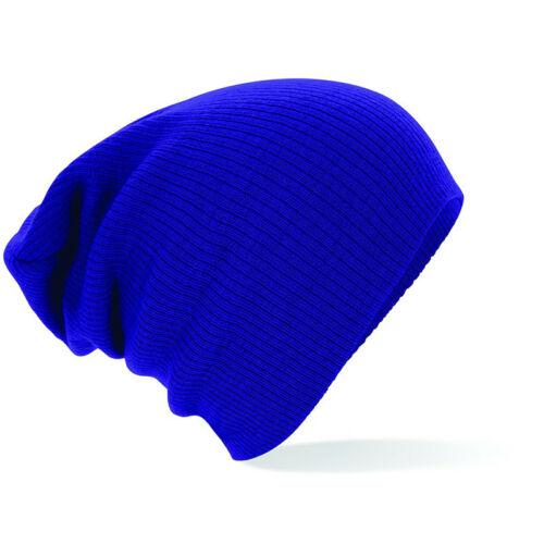 Beechfield Slouch Beanie Adults Womens Mens Warm Winter Pull On Hat Ski Snow New