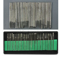 30 Diamond Burrs For Engraving Rotary Tool Drill Bit Set 2.3mm Shanks New