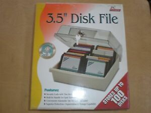 3-5-034-Disk-Storage-Box-Data-Case-Holder-Hold-100-Diskette-Disc-PC-Tray-File-Locks