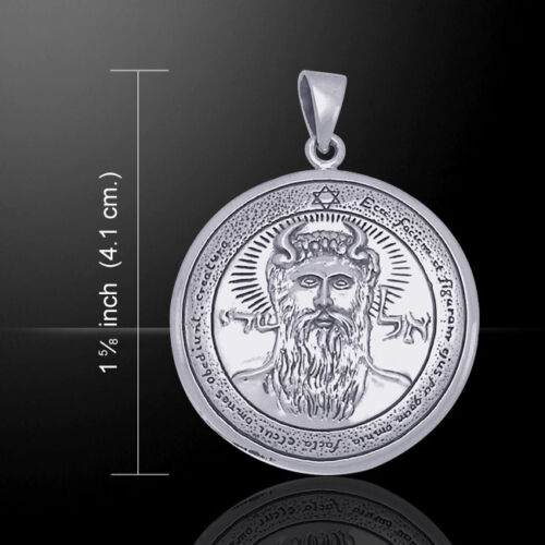 First Pentacle of the Sun Seal of Solomon .925 Sterling Silver Pendant Jewelry