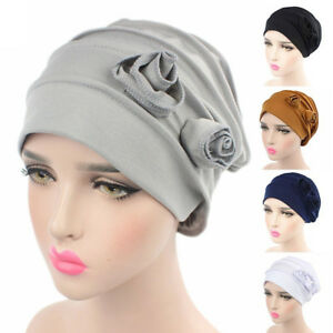 Fleur-chapeau-cancer-chimio-bonnet-Baggy-turban-bouchon-tete-enveloppe-foulard