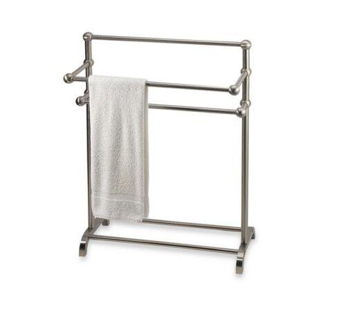 Bathroom Towel Valet Bath Bathrobe Bar Rack Floor Stand Hanger Storage Holder