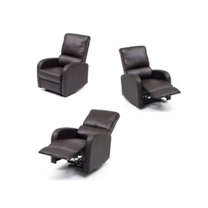Poltrone Relax In Pelle.Nsp02714 Poltrona Relax Eco Pelle Reclinabile Consistema Manuale