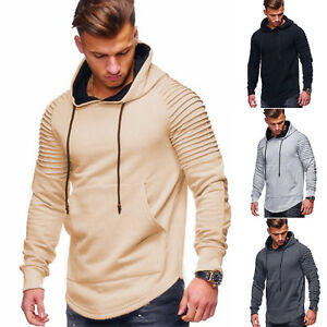 Men-Muscle-Pleated-Long-Sleeve-Tops-Round-Neck-Slim-Fit-Hoodie-T-Shirt-Blouse-US