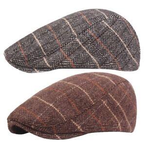 1X(Automne Hiver Hommes Chapeau Chapeaux BéRets Casquette de Style Occident E4P5