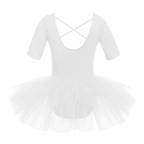 US Girls Ballet Dance Dress Leotards Gymnastics Tutu Skirts Ballerina Dancewear