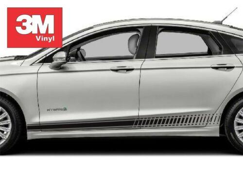 Strobe Rocker Panel 3M Vinyl Sticker Graphic Decals Stripe 2016 Ford Fusion