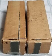 PAIR TUNG SOL VINTAGE 12AX7 17MM BLACK PLATE MILITARY GRADE TUBES NIB 1940'S