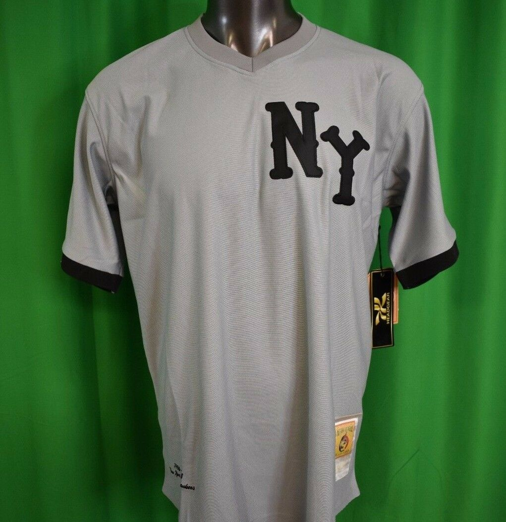 Headgear Clásico Hombre New York black Yankees Camiseta de Béisbol Nwt LARGA, XL