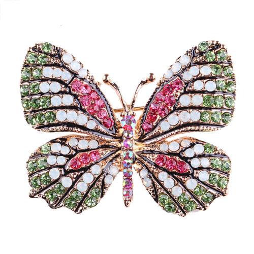 Strass papillon broche broches or femmes robe de mariée broche Broche