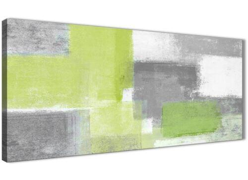 1369-120 Cm Impresión Abstracta Verde Lima Gris Accesorios Dormitorio De Lona