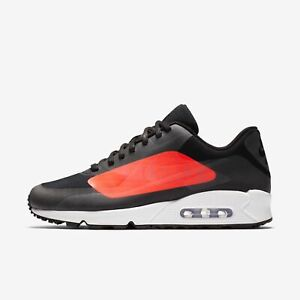 Detalles de HOMBRE Nike Air Max 90 NS GPX Zapatos Negros Carmesí AJ7182 003 Msrp $150