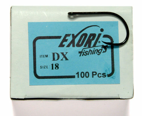 100 Exori DX 18 Needle Point Bait Hook for Carp /& Bass