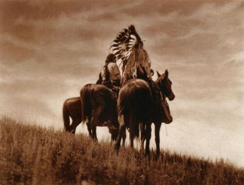 Curtis Native American Indian Art Photograph Cheyenne Warriors 22x30 Edward S