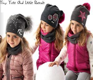 Girls Toddlers Kids Cotton Elastic Winter Warm Hat Beanie Size 12 ... ad96ff85830