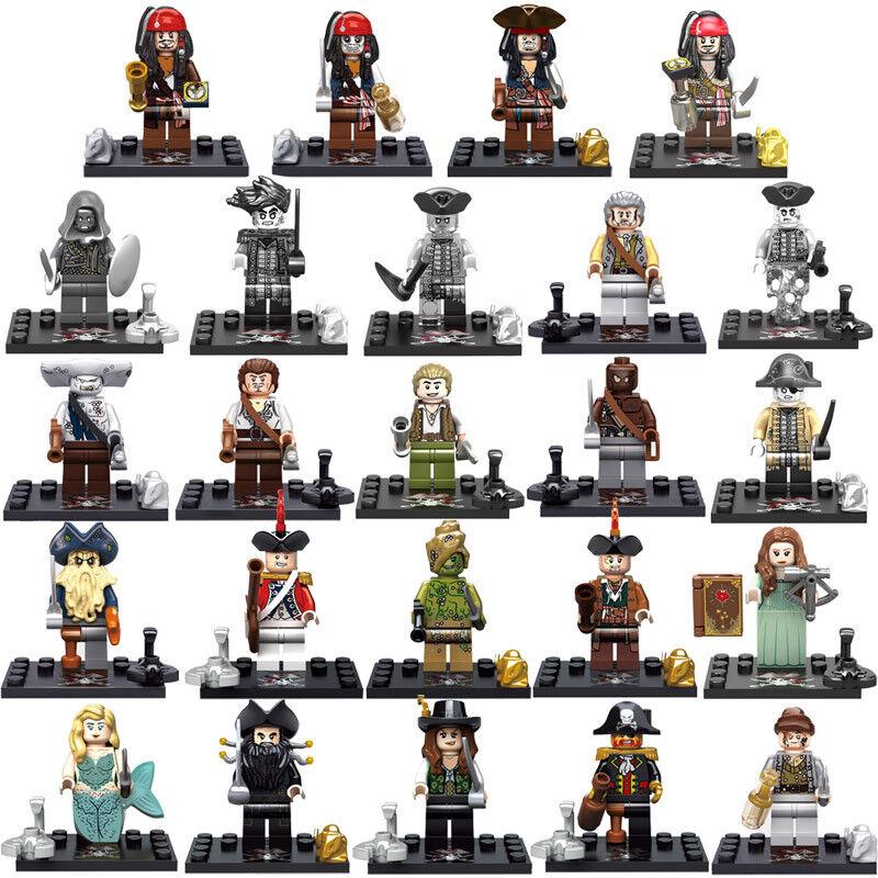 Pirati dei Caraibi 24 minifigure Pirates of the Caribbean custom LEGO compatibil