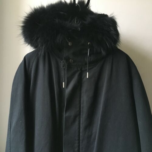 Cool Fur All Sz Parka Super Line 48 Original Yves Black Removable Rabbit Salomon FdpwwZPq