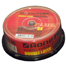 25 Pack Spindle AONE PLUS Supporti Vergini DVD+R DL DISCHI VELOCITÀ 8X DUAL LAYER 8,5 GB