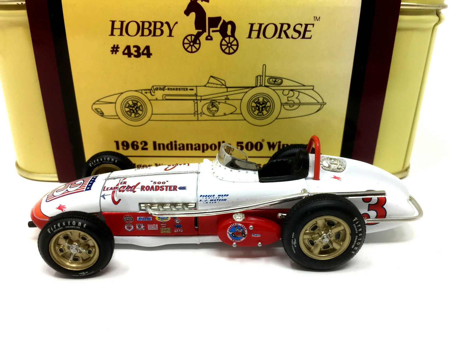 Hobby Horse 434 1962 INDIANAPOLIS 500 WINNER  3 RODGER WARD leader Carte Roadster