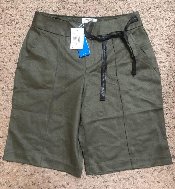 adidas Women s Shorts Olive Green Bq5355 NGTCAR Logo Originals Pants ... d05c34aeca