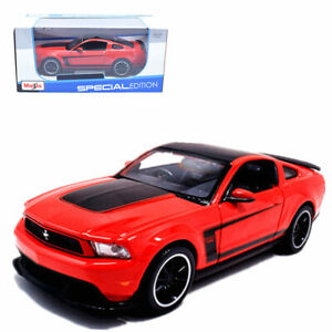Maisto-1-24-Ford-Mustang-Boss-302-Metal-Diecast-Model-Car-New-in-Box-Red