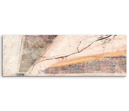 Leinwandbild Panorama beige braun rosa Paul Sinus Abstrakt/_559/_150x50cm