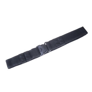Black-Heavy-Duty-Security-Guard-Police-Utility-Nylon-Belt-Waistband-Supplies-LD