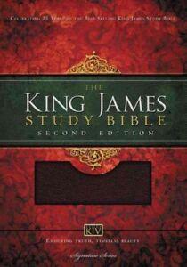 Holy-Bible-King-James-Version-Study-Bible-Burgundy-Bonded-Leather-Paperb