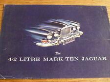 JAGUAR 4.2 LITRE MARK TEN  SALES BROCHURE @ 1963 1964