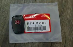 JDM Red H Type R Key Fob Case Back Cover HONDA CIVIC AC