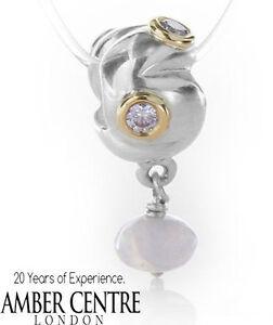 PANDORA-Silver-14ct-Gold-Lavender-Zirconia-Serenity-Charm-790358LCZ-RRP-85
