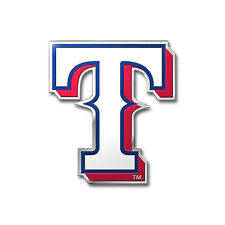 New MLB Texas Rangers Car Truck Auto 3-D Aluminum Color Emblem Sticker Decal