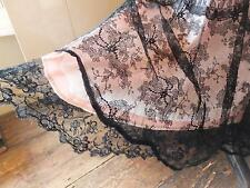 Post Edwardian pre 1920s end of 1st World War lace dress with lace shawl cape