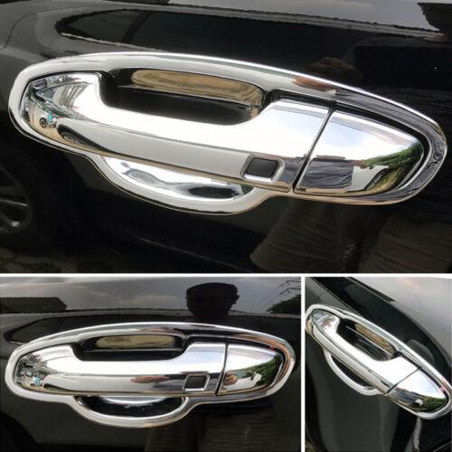 Chrome Smart Key Door Handle Catch Cover Cap Trim For Kia Sportage QL 2017 2018