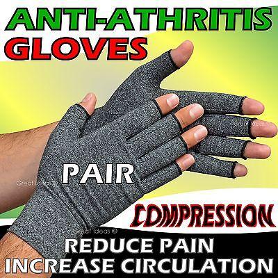 Anti Arthritis Gloves - Arthritic Rheumatoid Hand Compression Ache Pain Therapy