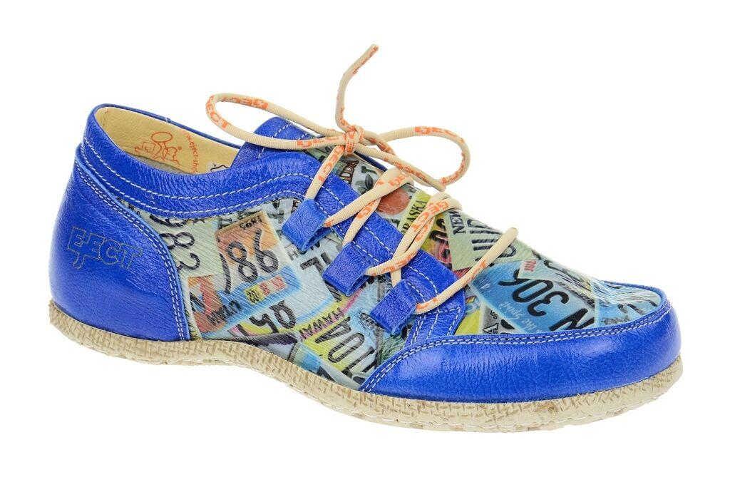 Eject Schuhe ROBD blau Damenschuhe sportliche Schnür-Halbschuhe 161881.2 NEU