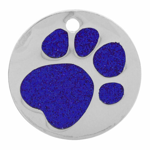ENGRAVING OPTIONS Personalised Pet ID Tag Quality 27mm Glitter Dog or Cat Tag