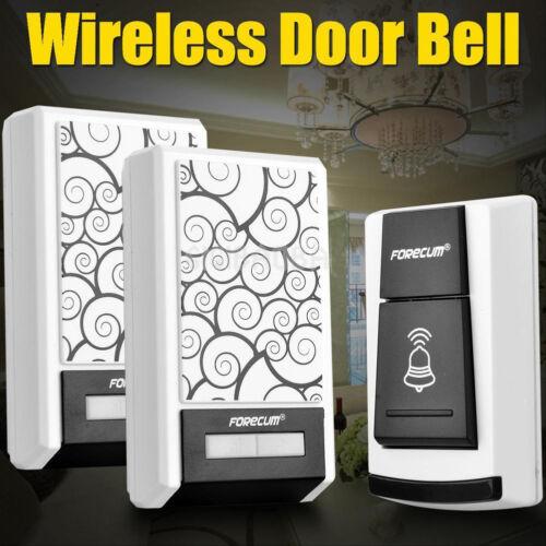 36 Chimes Waterproof Wireless Doorbell Remote Control 1//2 Receiver Door bell HG